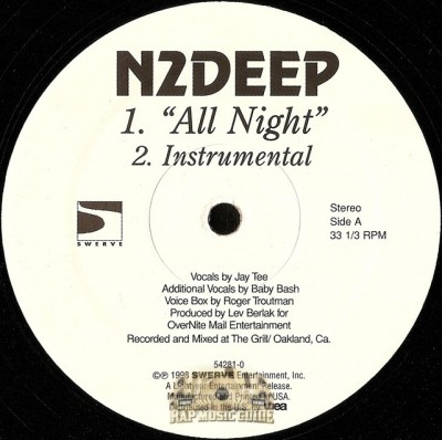 N2Deep - All Night / Where The G's At