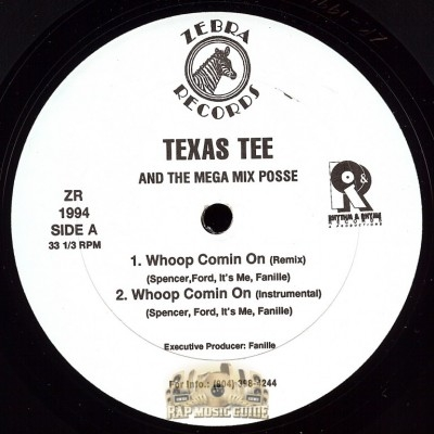 Texas Tee And The Mega Mix Posse - Whoop Comin On