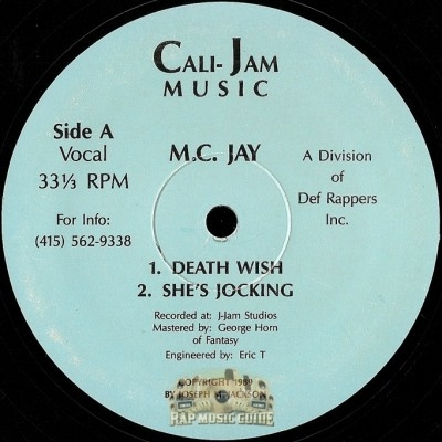 MC Jay - Death Wish / She's Jocking