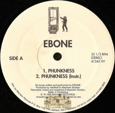 Ebone - Phunkness / Baller X