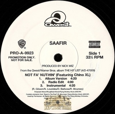 Saafir - Not Fa' Nuthin'