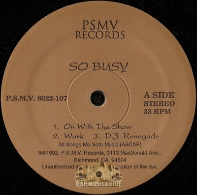 So Busy - On With The Show
