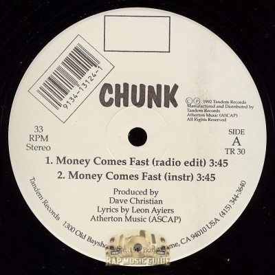 Chunk - Money Comes Fast, Dying Black Race