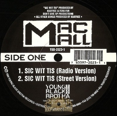 Mac Mall - Sic Wit Tis