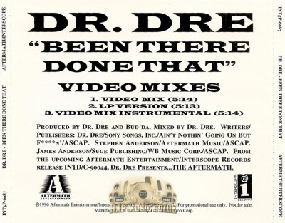Dr. Dre - Been There Done That (Video Mixes)