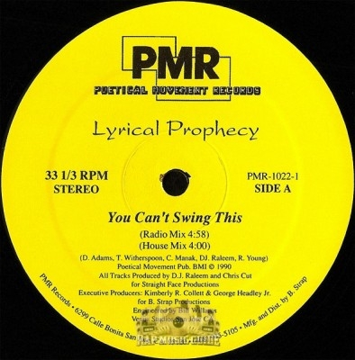Lyrical Prophecy - You Can't Swing This