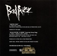 Bad azz ghetto star single cd rap music guide - Welcome to the ghetto instrumental ...