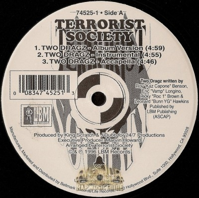 Terrorist Society - Two Dragz / Mad World