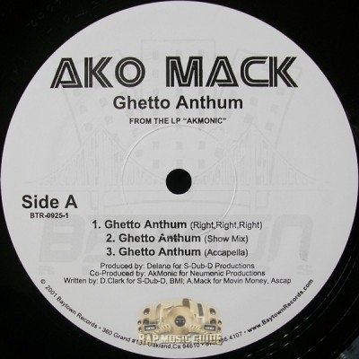 Ako Mack - Ghetto Anthum