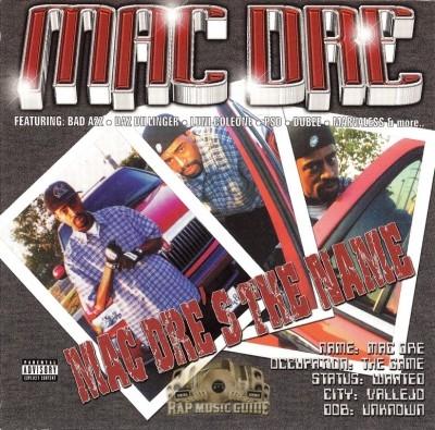 Mac Dre - Mac Dre's The Name