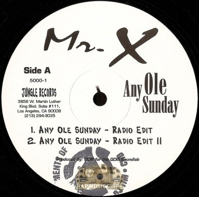 Mr. X - Any Ole Sunday