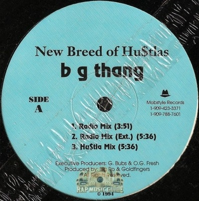 New Breed Of Hustlas - BG Thang