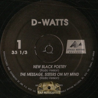 D-Watts - New Black Poetry