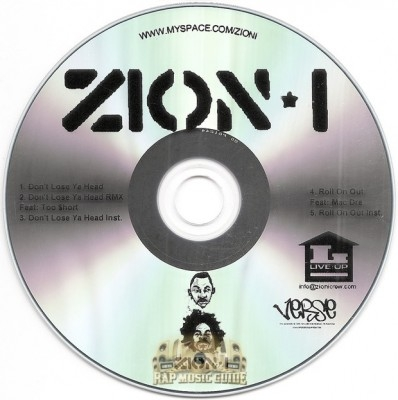 Zion I - Don't Lose Ya Head / Roll On Out