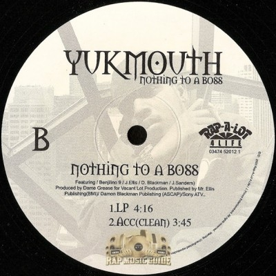 Yukmouth - Nothing To A Boss