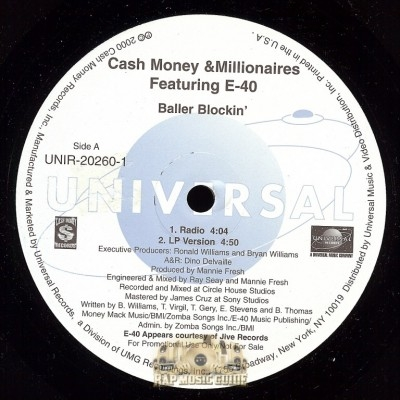 Cash Money Millionaires - Baller Blockin'
