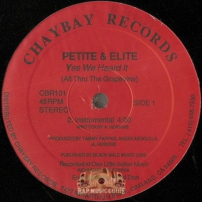 Petite & Elite - Yes We Heard It (All Thru The Grapevine)