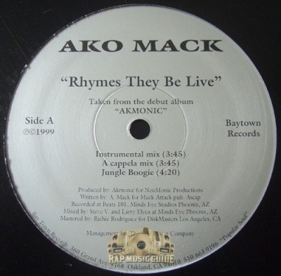 Ako Mack - Rhymes They Be Live