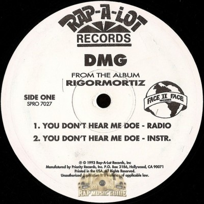 DMG - You Don't Hear Me Doe