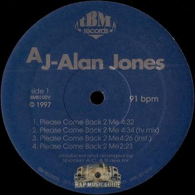 AJ Alan Jones - Peace Come Back 2 Me
