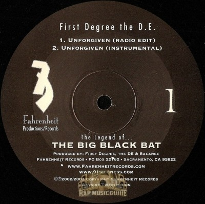 First Degree The D.E. - Unforgiven / All Ova Da Place
