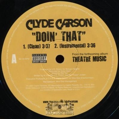 Clyde Carson - Doin' That