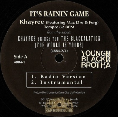 Khayree Featuring Mac Dre - It's Raining Game