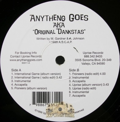 Anytheng Goes - Original Dankstas EP