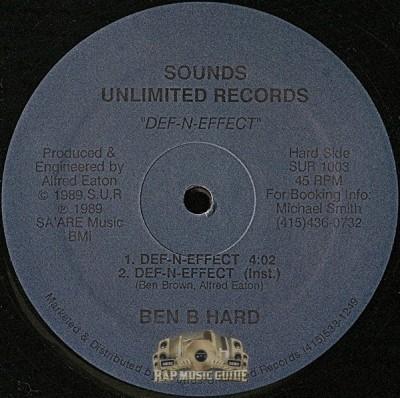Ben B. Hard - Def-N-Effect