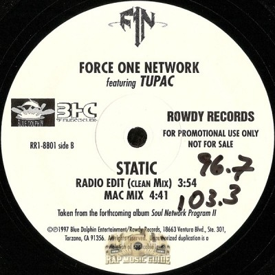 Force One Network - It's All Good / Static