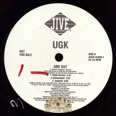 UGK - One Day, Ride My Car