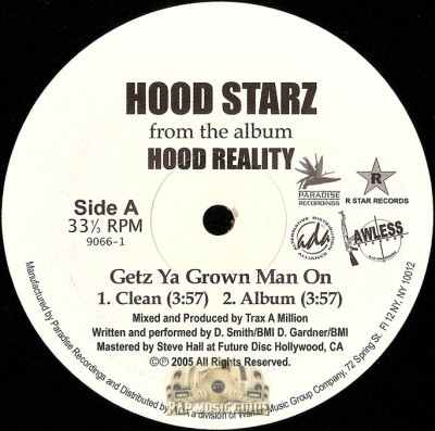 Dem Hoodstarz - Getz Ya Grown Man On