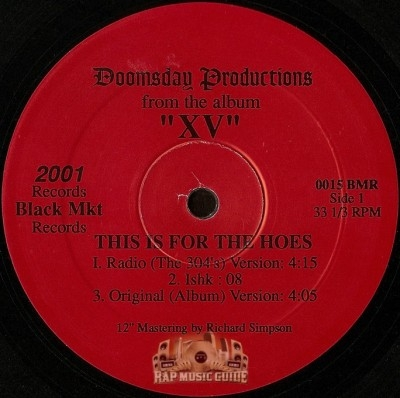 Doomsday Productions - This Is For The Hoes