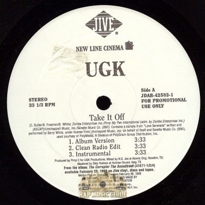 UGK - Take It Off, The Corruptor's Execution