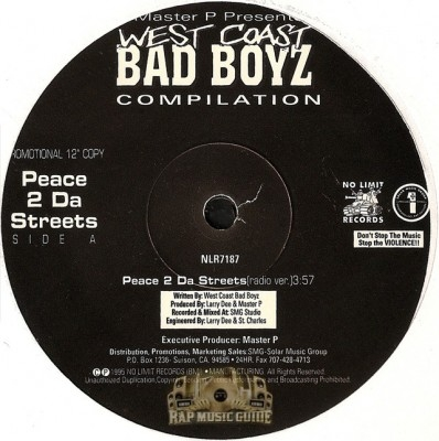 West Coast Bad Boyz - Peace 2 Da Streets