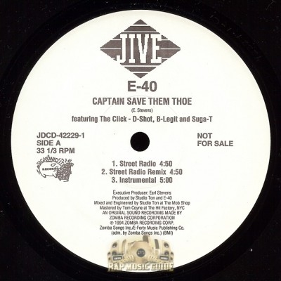 E-40 - Captain Save Them Thoe
