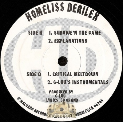 Homeliss Derilex - Survive'n The Game