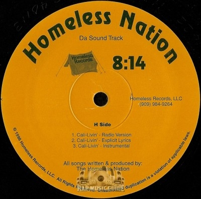 Homeless Nation - Cali-Livin' / Avalanche