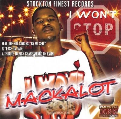 Mackalot - I Won't Stop