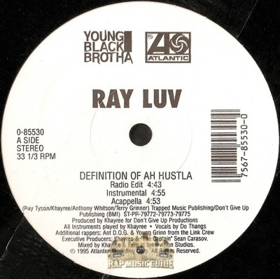 Ray Luv - Definition Of Ah Hustla