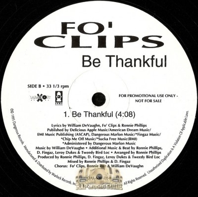 Fo' Clips - Be Thankful