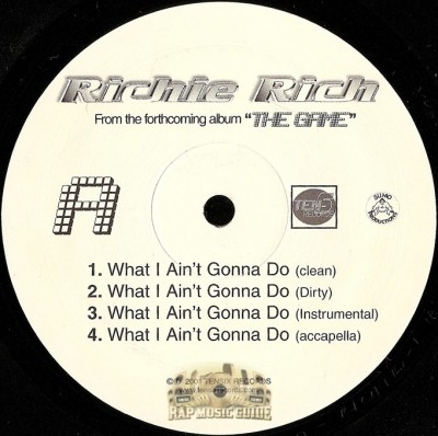 Richie Rich - What I Ain't Gonna Do