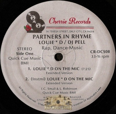 Partners In Rhyme - Louie D On The Mic