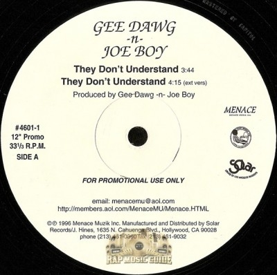 Gee Dawg 'N' Joe Boy - They Don't Understand