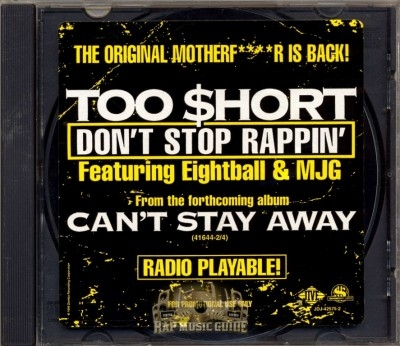 Too Short - Don't Stop Rappin'