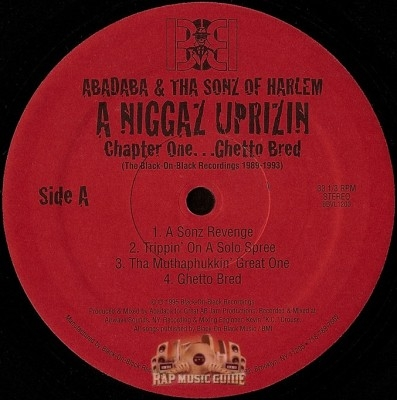 Abadaba & Tha Sonz Of Harlem - A Niggaz Uprizin - Chapter One...Ghetto Bred