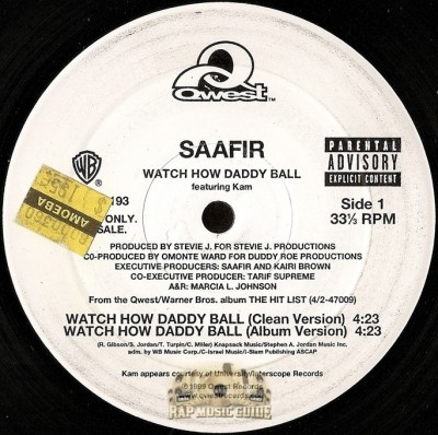 Saafir - Watch How Daddy Ball