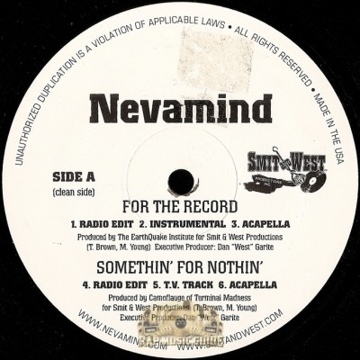Nevamind - For The Record