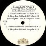 Black Dynasty - Deep East Oakland EP