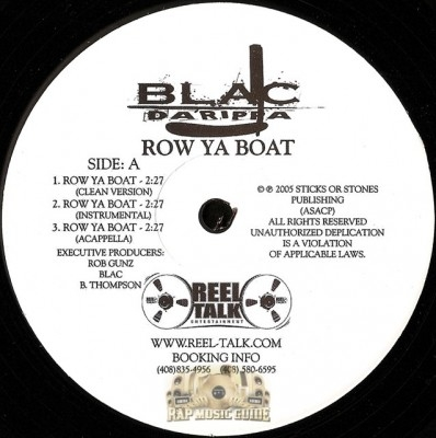 Blac Da Rippa - Row Ya Boad / Mardigras